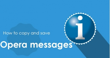 How to copy and save Opera messages - Intertuto